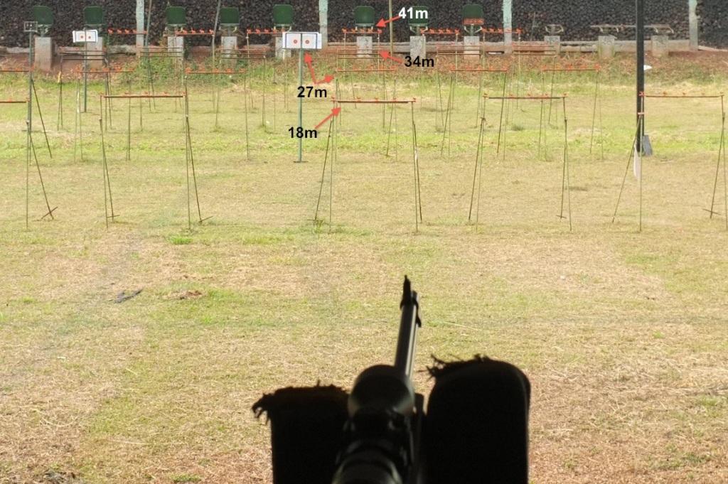 metallic silhouette target range